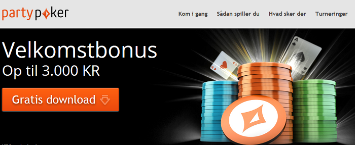 party_poker_velkomstbanner